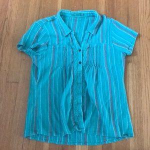 Prana short sleeved blouse